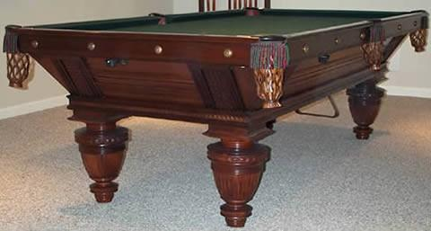 Restored Improved Union League biliards table