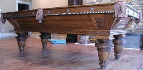 Fully restored Improved Union League antique pool table