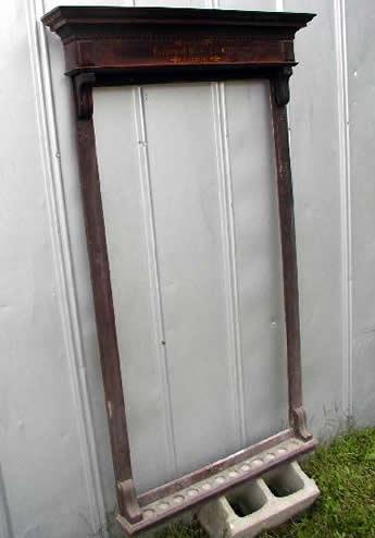 Antique Brunswick Mahogany Dentil Cue Rack