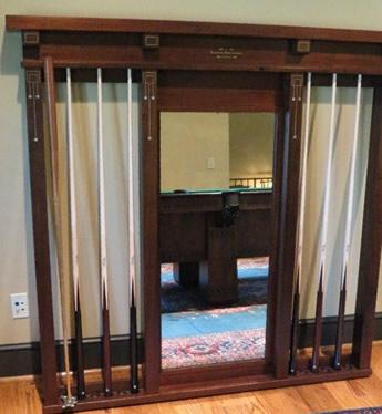 Antique Brunswick Wall Mount Cue Rack No 33 Reproduction